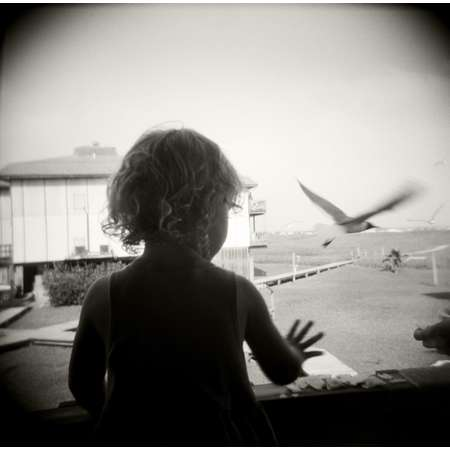 Feeding Seagulls, Port Aransas, 1997