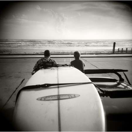 Checking the Surf, South Padre Island, 2001