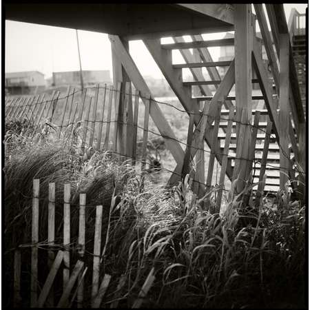 Dune Fence and Stairs, Surfside Beach, 2002