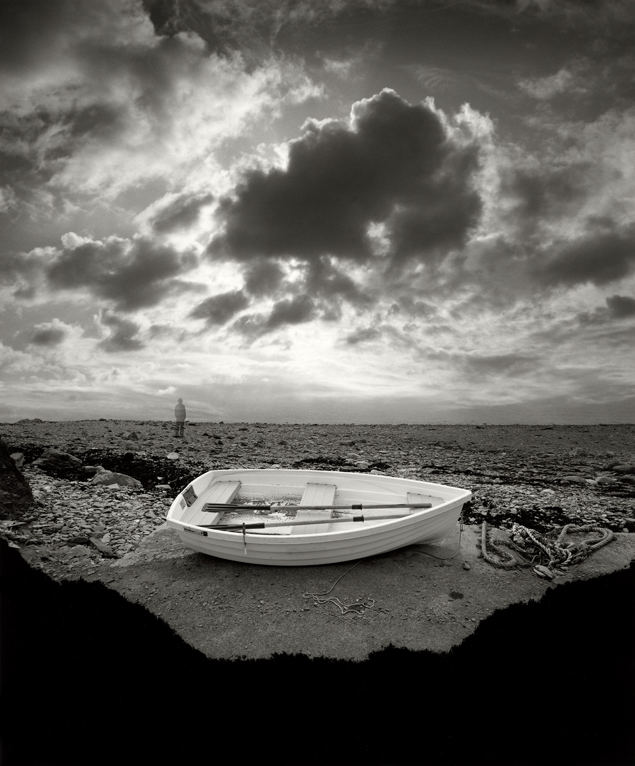 Jerry Uelsmann Small Boat Waiting Catherine Couturier Gallery
