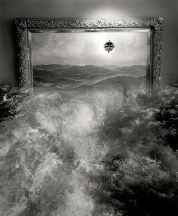 Jerry Ueslmann Untitled Ocean in Frame Catherine Couturier Gallery