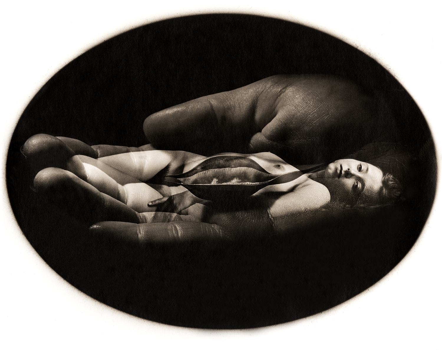 Jerry Uelsmann Untitled Oval Nude Catherine Couturier Gallery